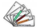 CNC Machined Anodized  Aluminum Frames - Single Badge