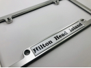 CNC Machined Anodized Aluminum Frames - Single Badge - Clear Dome