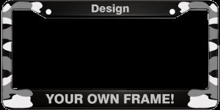 Camouflage - Aluminum Car License Plate Frames