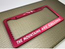 Anodized Aluminum Car License Plate Frames