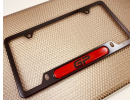 Narrow Top  Car Aluminum License Plate Frames - Clear Dome