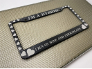 Hearts - Aluminum Car License Plate Frames