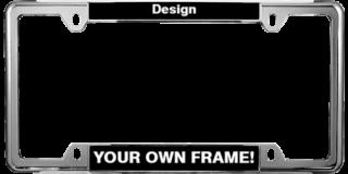 Thin Top Car 4-hole Metal Frames