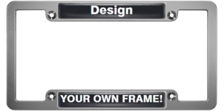 CNC Machined Anodized Aluminum Frames - Double Badge - Clear Dome