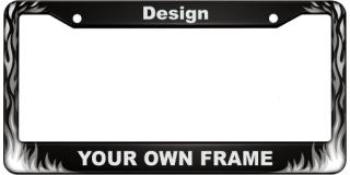 Flames - Aluminum Car License Plate Frames
