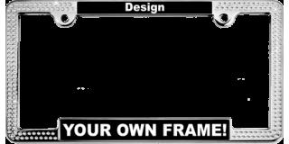 Crystal Car Metal License Plate Frames