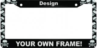 Skulls - Aluminum Car License Plate Frames