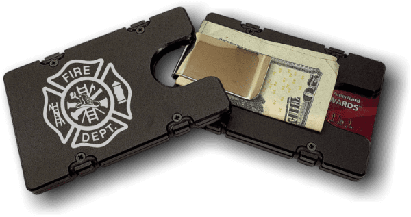 Firemen - Anodized Aluminum Credit Card Holder