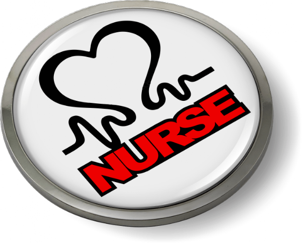 Nurse 3D Domed Emblem