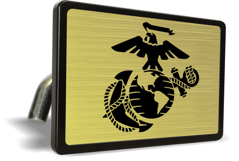 USMC (Gold) - Tow Hitch Cover