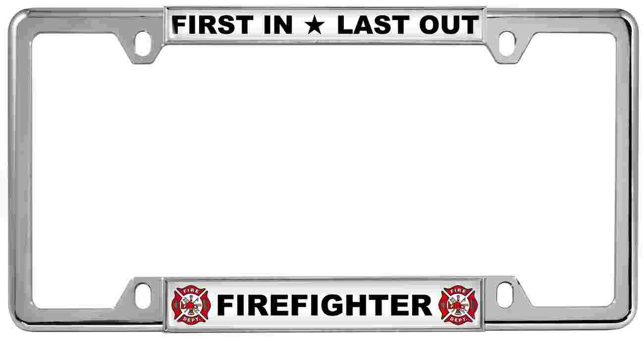 Fire Department - Metal License Plate Frames