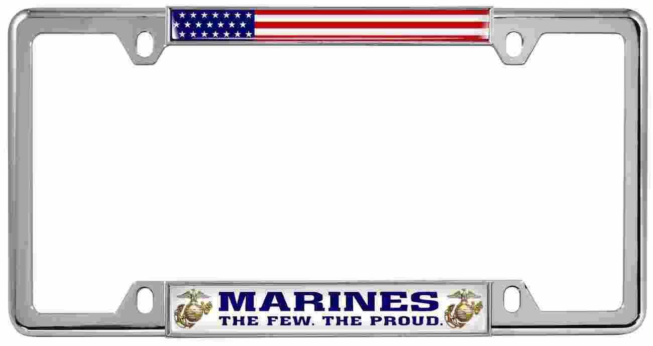 Marines. The Few. The Proud. - Metal License Plate Frames (WB)