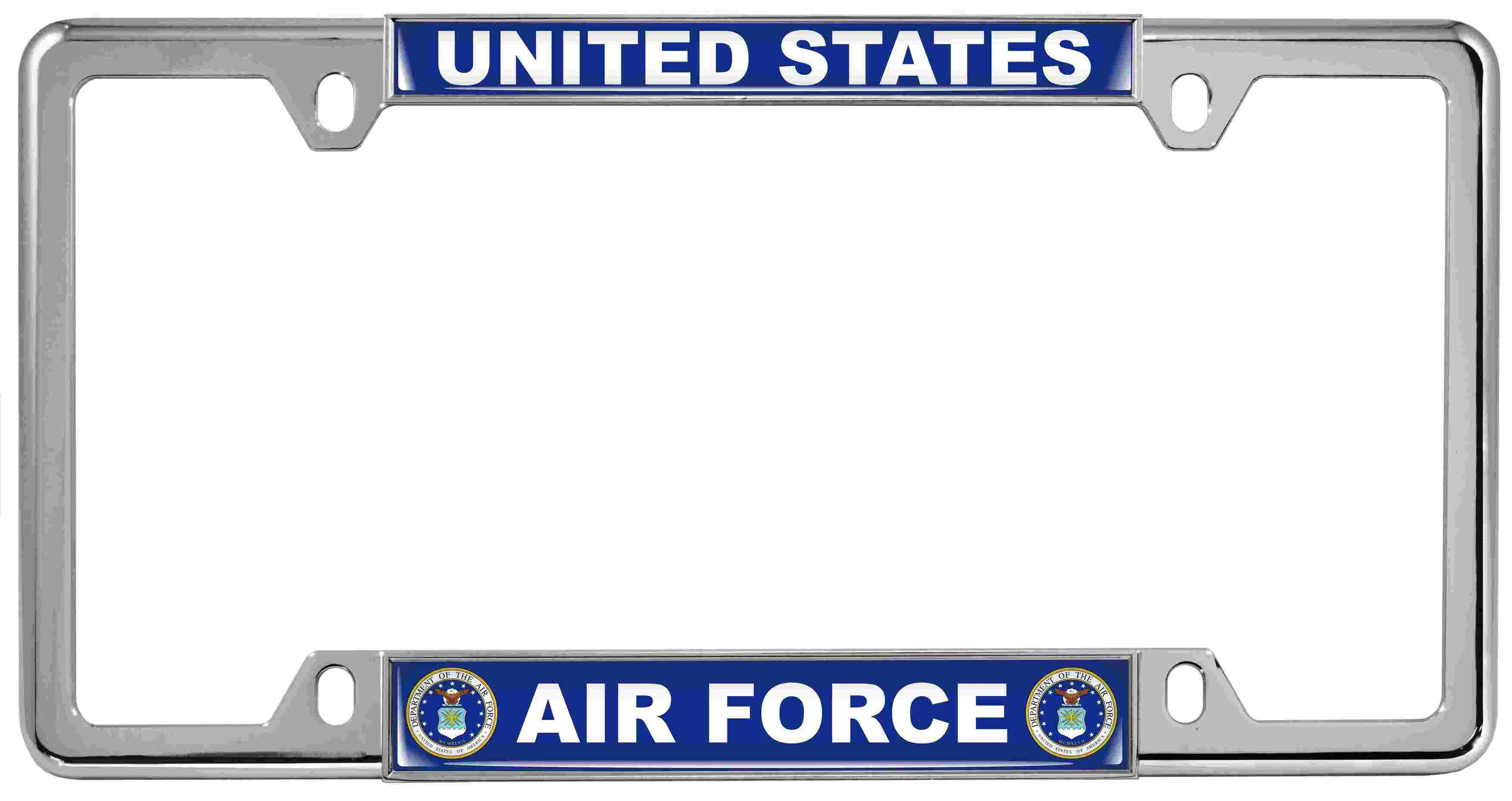Department of U.S. Air Force Design Patriotic License Plate Frames