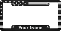 CNC Machined Patriotic Anodized Aluminum Frame - Large