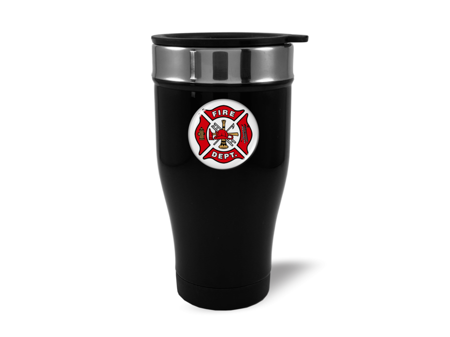 Travel Mug with Firefighter Logo