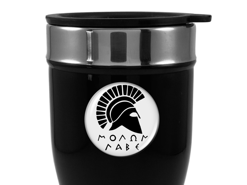 Travel Mug with Molon Labe Logo