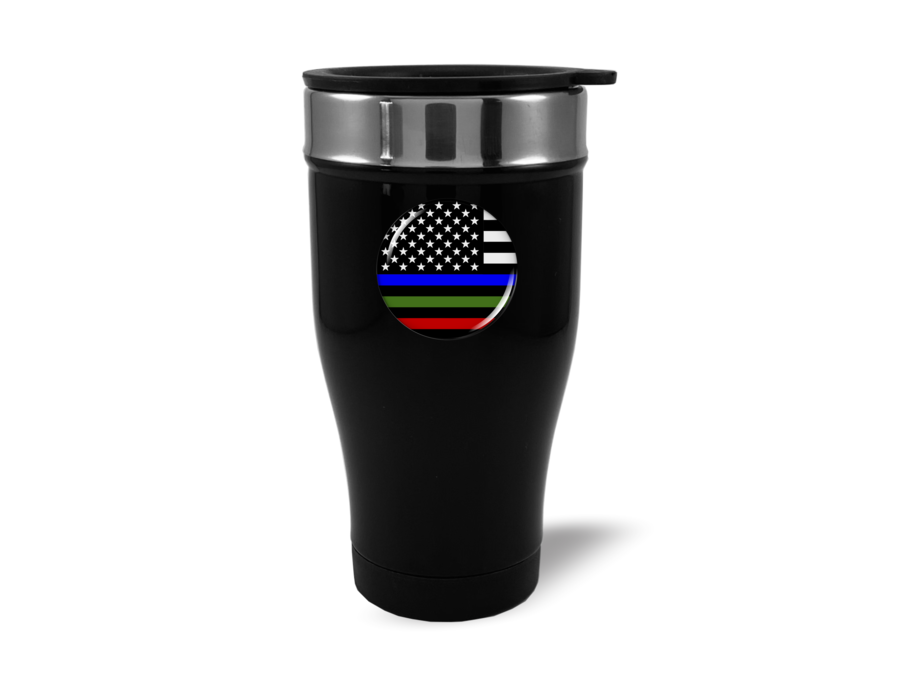 Travel Mug with Police, Military and Fire Logo