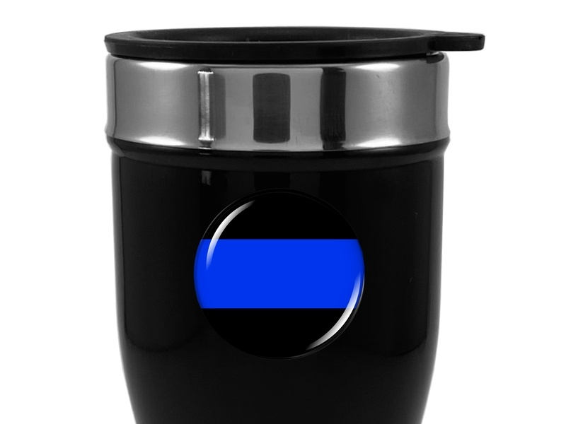 Travel Mug with Thin Blue Line Logo