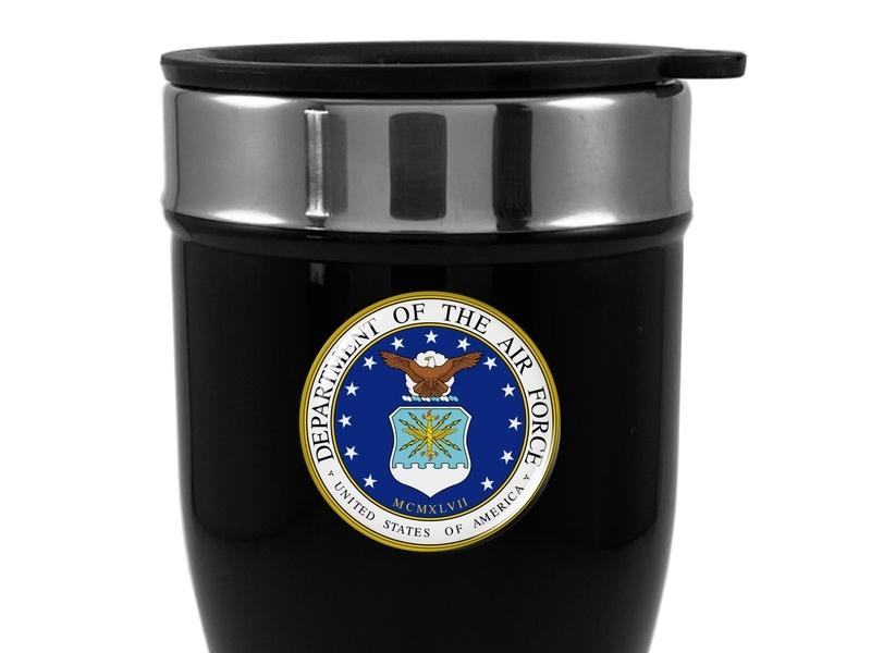 Travel Mug with U.S. Department Of The AIR Force Logo