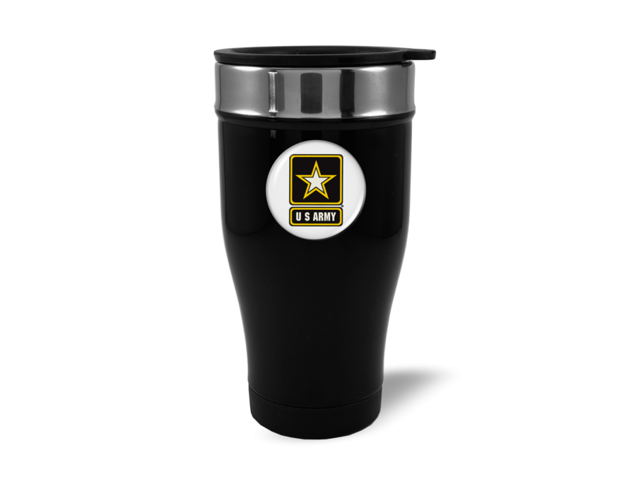 Travel Mug with U.S. Army Logo (w/b)