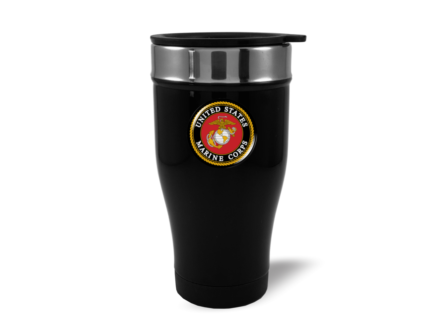Travel Mug with U.S. Marine Corps (bk)