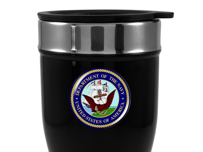 Travel Mug with Department Of The NAVY Logo