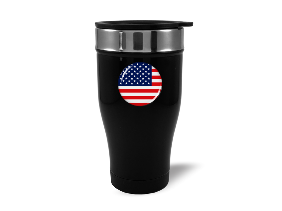 Travel Mug with American Flag Logo